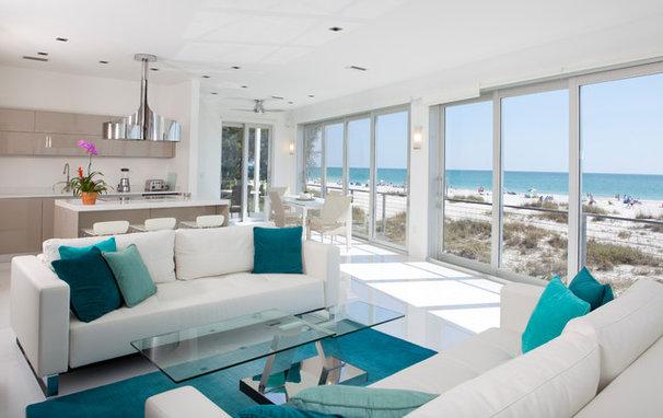 Tropical Living Room by Modus Custom Residences