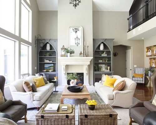 Inspiration For A Timeless Carpeted And Beige Floor Living Room Remodel In  Salt Lake City With