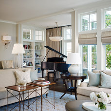 Traditional Living Room by jamesthomas, LLC