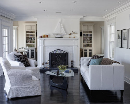 Marble Tile Fireplace | Houzz