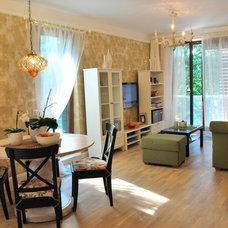 Contemporary Living Room by Evelina Burinskiene