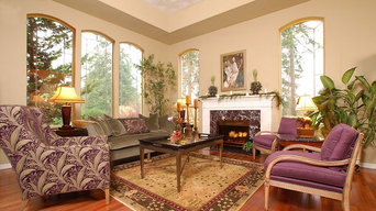 Exquisite Living room in S.W Washington rural home