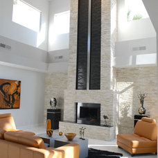 Contemporary Living Room by Earth and Water Studios