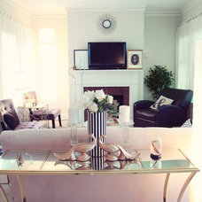 Contemporary Living Room by Luxe Interiors by Tiffany