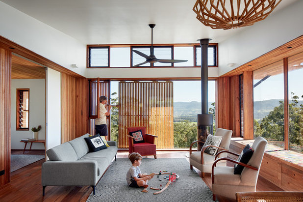 Midcentury Living Room by LocalArchitect South Coast