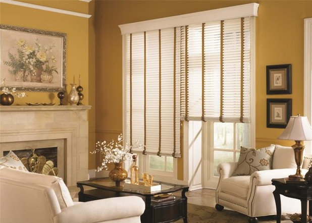 American Traditional Living Room by Budget Blinds of the Wasatch Back