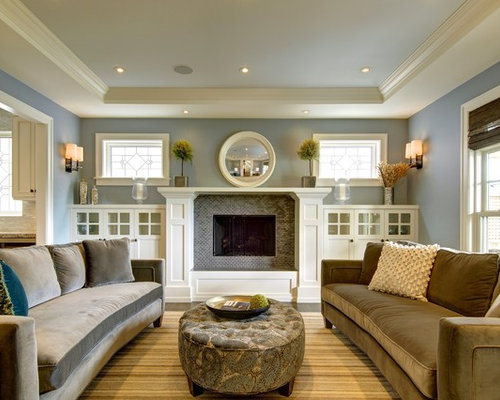 craftsman living room design ideas remodels photos houzz