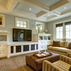 Craftsman Living Room by Rockwood Custom Homes