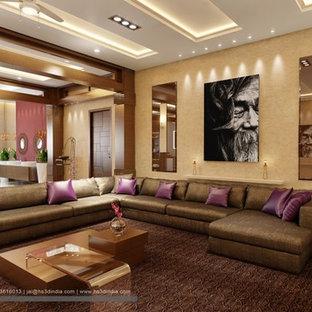 Living room - modern living room idea in St Louis