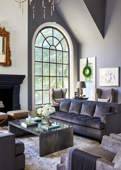 Transitional Living Room by Haus Interior Design