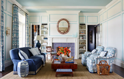 Color Play: Aqua Amps Up a Classic Blue-and-White Palette