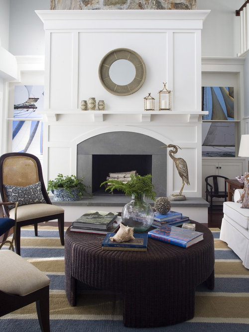 Beach Style Living Room Idea In Providence