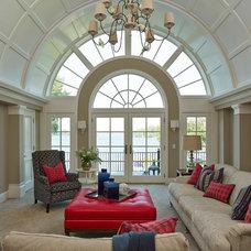 Transitional Living Room by Martha O'Hara Interiors