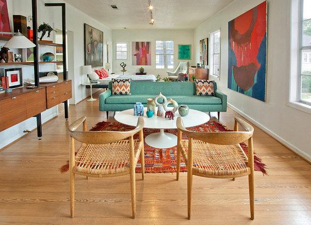 9 Ways to Work Your Room Around a Midcentury style Sofa