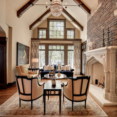 Traditional Living Room by Eskuche Design