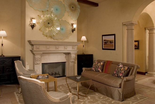 Traditional Living Room by Faith Sheridan