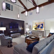 Contemporary Living Room by June DeLugas Interiors