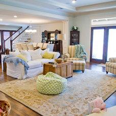 Craftsman Family Room by 3rd Street Custom Homes