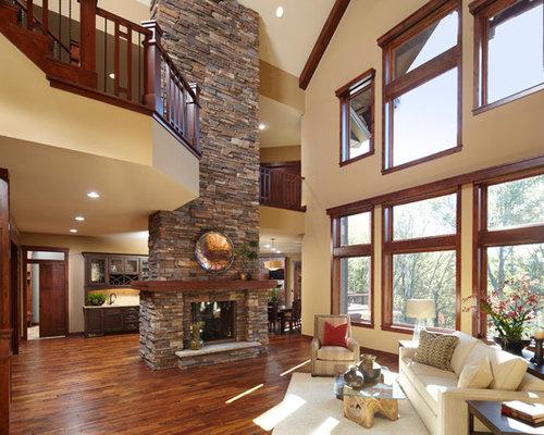 Stacked Stone Fireplace Surround Houzz