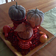 Living Room Fall tablescape
