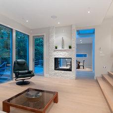 Contemporary Living Room by blurrdMEDIA