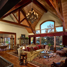 Traditional Living Room by Anthemion Architecture LLC