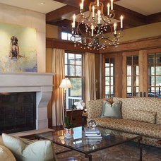 Traditional Living Room by Chip Webster Architecture