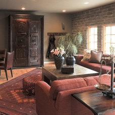 Contemporary Living Room by Linda Robinson Design Associates