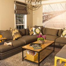 Transitional Living Room by Ekhaya Designs