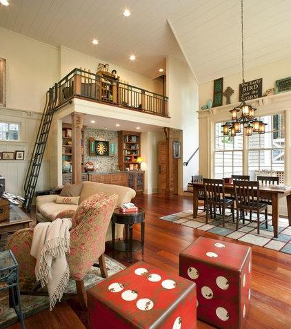 Contemporary Family Room by Bob Lancaster Designs