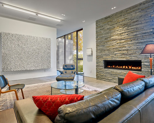 Modern Fireplace Design Ideas | Houzz