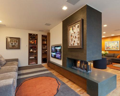 TV Room Divider Ideas and Photos Houzz