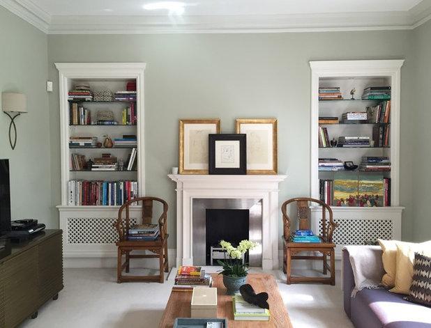 Transitional Living Room by AllisonHanbury