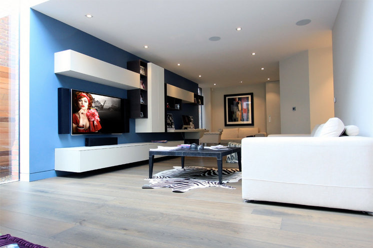 Contemporary Living Room by O'Brien Hi-FI