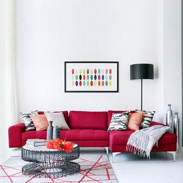 Family Living Area - Buckinghamshire Residence