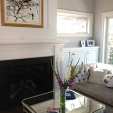 Transitional Living Room by Michael DeJong Homes