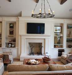 traditional living room by Wildwood Cabinetry