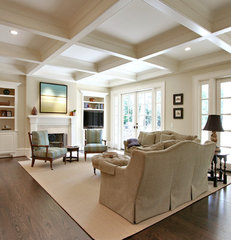 traditional family room by Dresser Homes