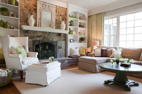 Traditional Living Room by Amanda Austin Interiors