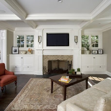 Traditional Living Room by Orren Pickell Building Group