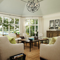 traditional family room by L K DeFrances & Associates