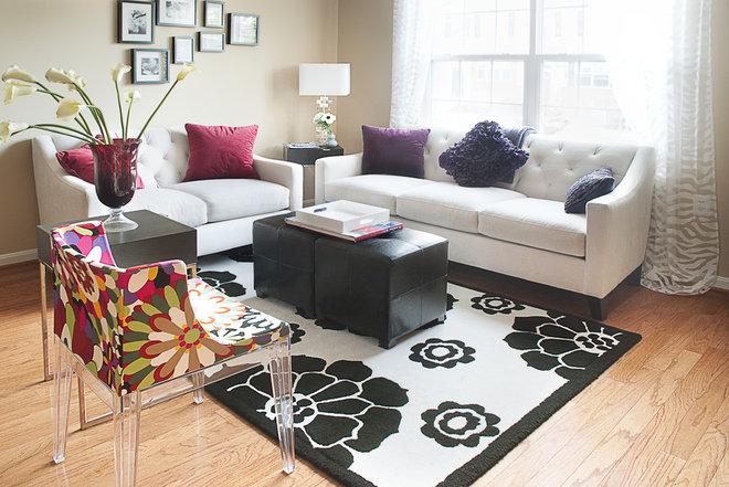 Contemporary Living Room by Fanny Zigdon Interiors