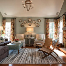Transitional Living Room by Kandrac & Kole Interior Designs, Inc.