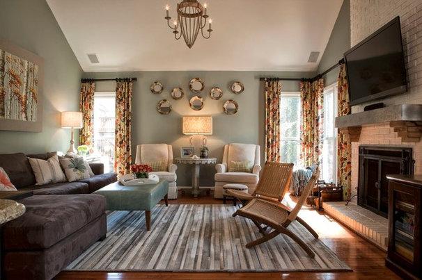 Transitional Living Room by Kandrac & Kole Interior Designs, Inc.