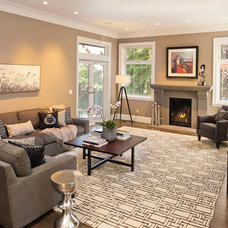 Transitional Living Room by My House Design Build Team