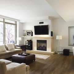modern family room by Prestige Custom Building & Construction, Inc.