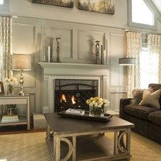 Traditional Living Room by Kandrac & Kole Interior Designs, Inc.