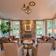 Transitional Living Room by L.S. Design