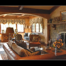 Traditional Living Room by Sejourne Interiors