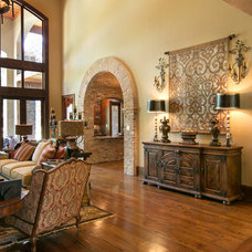 Mediterranean Living Room by Terry M. Elston, Builder